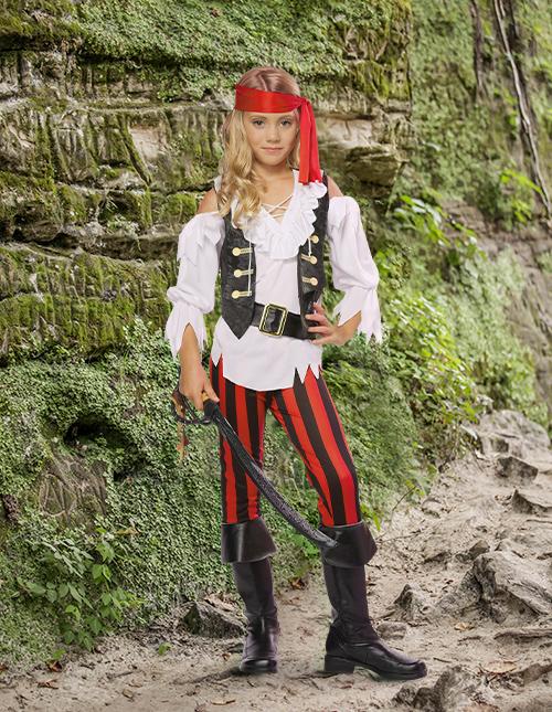 Posh Pirate Costume for Girls