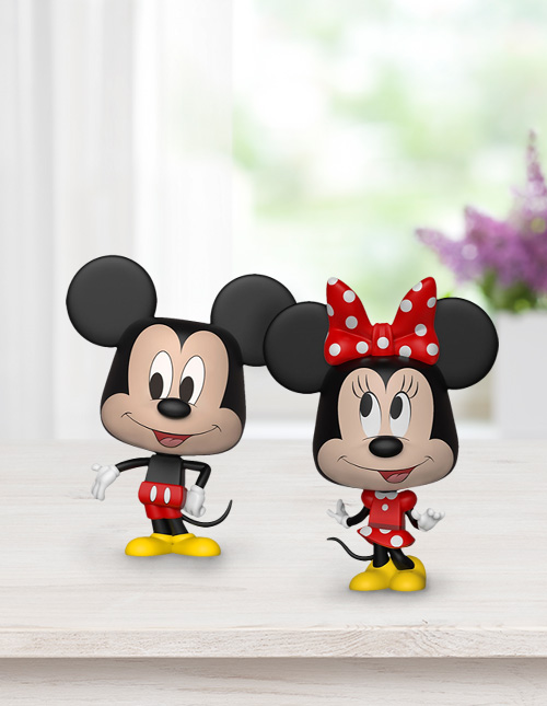 Funko Mickey and Minnie Mouse VYNL