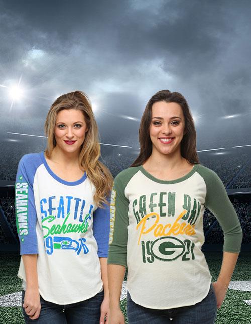 Retro NFL Raglan T-Shirts