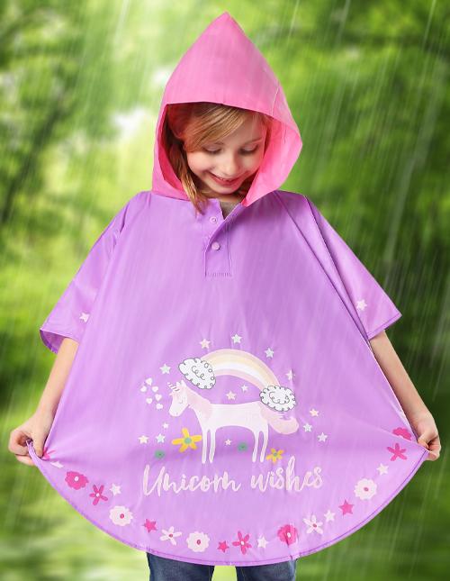 Kids Rain Ponchos