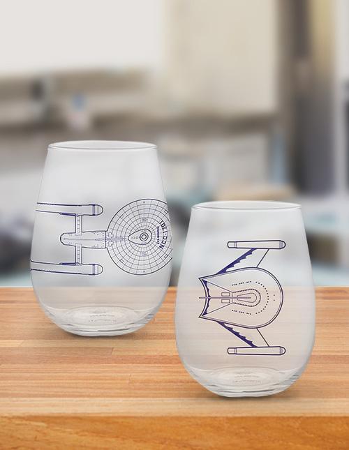 Star Trek Drinking Glasses