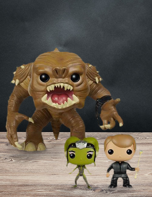Funko Luke and Rancor Pop Set