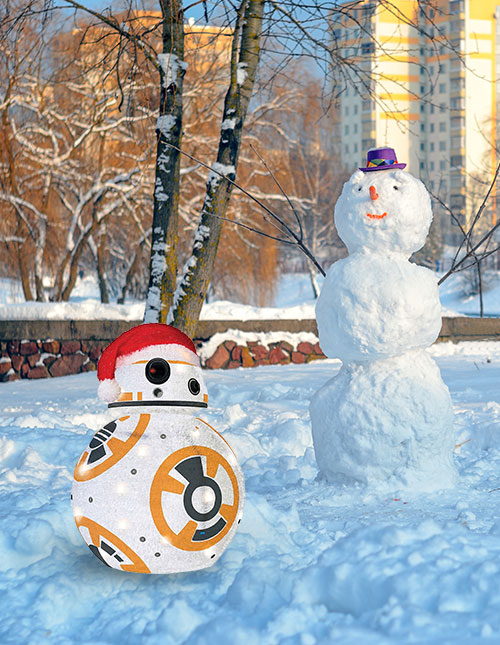 BB-8 Christmas Lawn Decoration