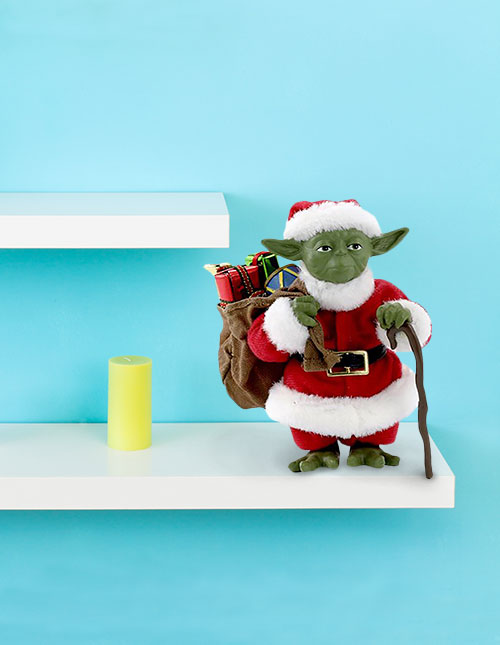 Santa Yoda Christmas Tablepiece Décor