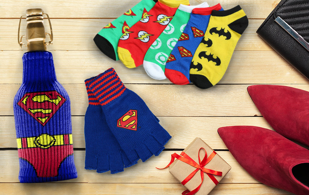 Mens Cartoon amp Character Slippers  Batman Superman