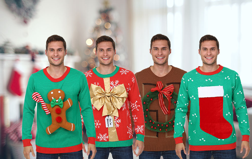 Ugly Christmas Sweaters Adult Kids Holiday Sweaters