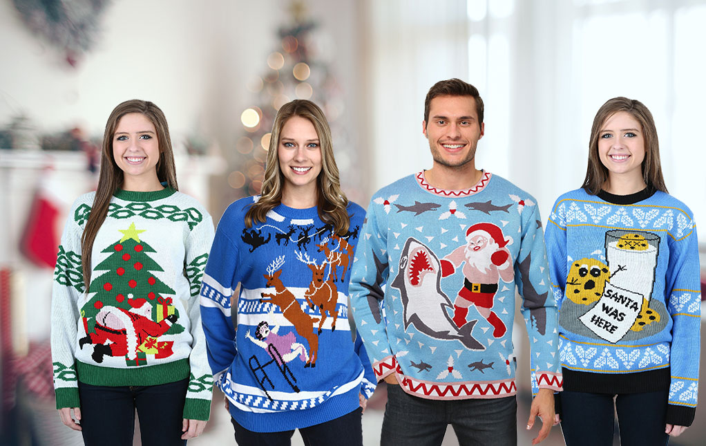 funny ugly sweaters - Hilarious Ugly Christmas Sweaters