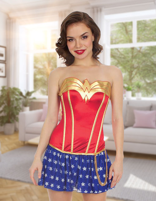 Wonder Woman Corset with Skirt