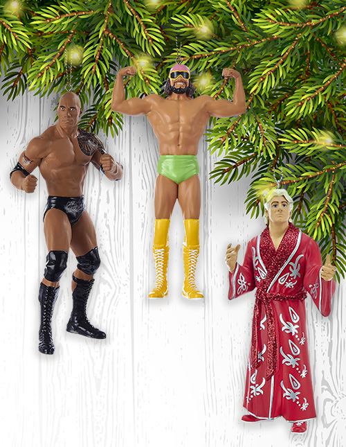WWE Christmas Ornaments