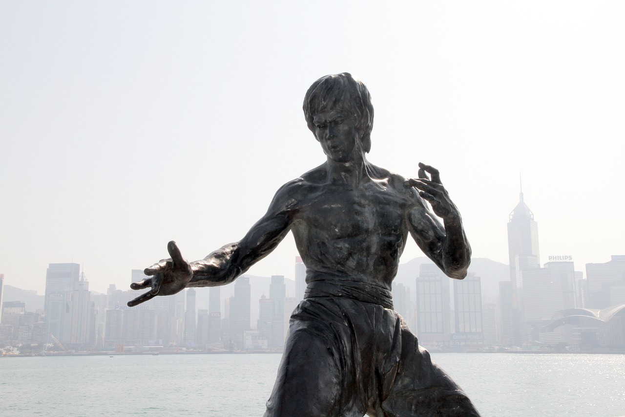 Bruce Lee Statue Monument in Hong Kong