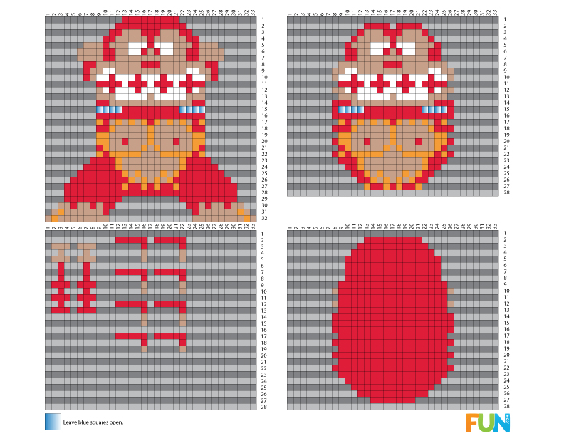 8 bit free 3d perler bead patterns