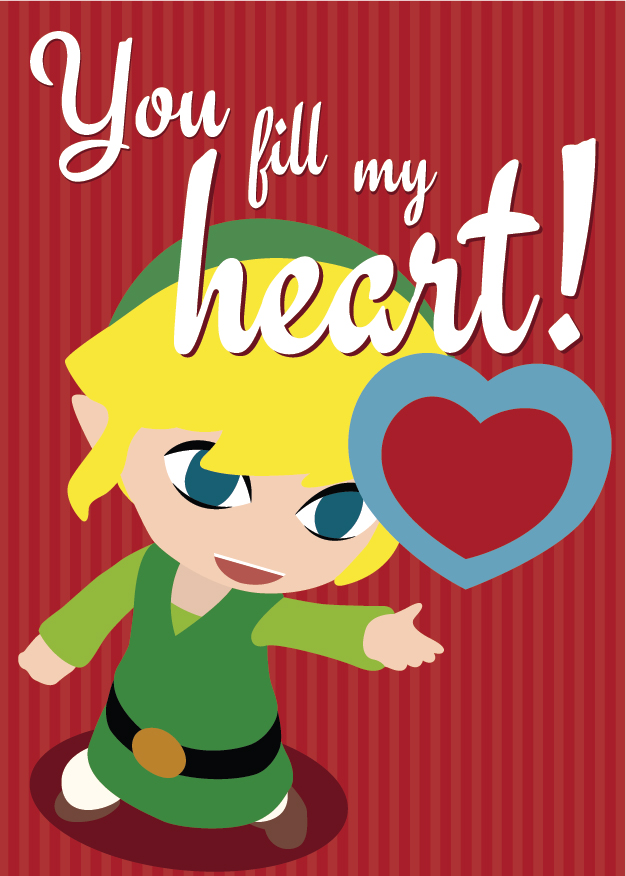 Schön Video Game Heart Containers: 19 Printable Valentines For ...