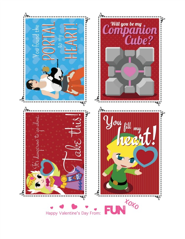 Chell, Companion Cube, Zelda, and Link