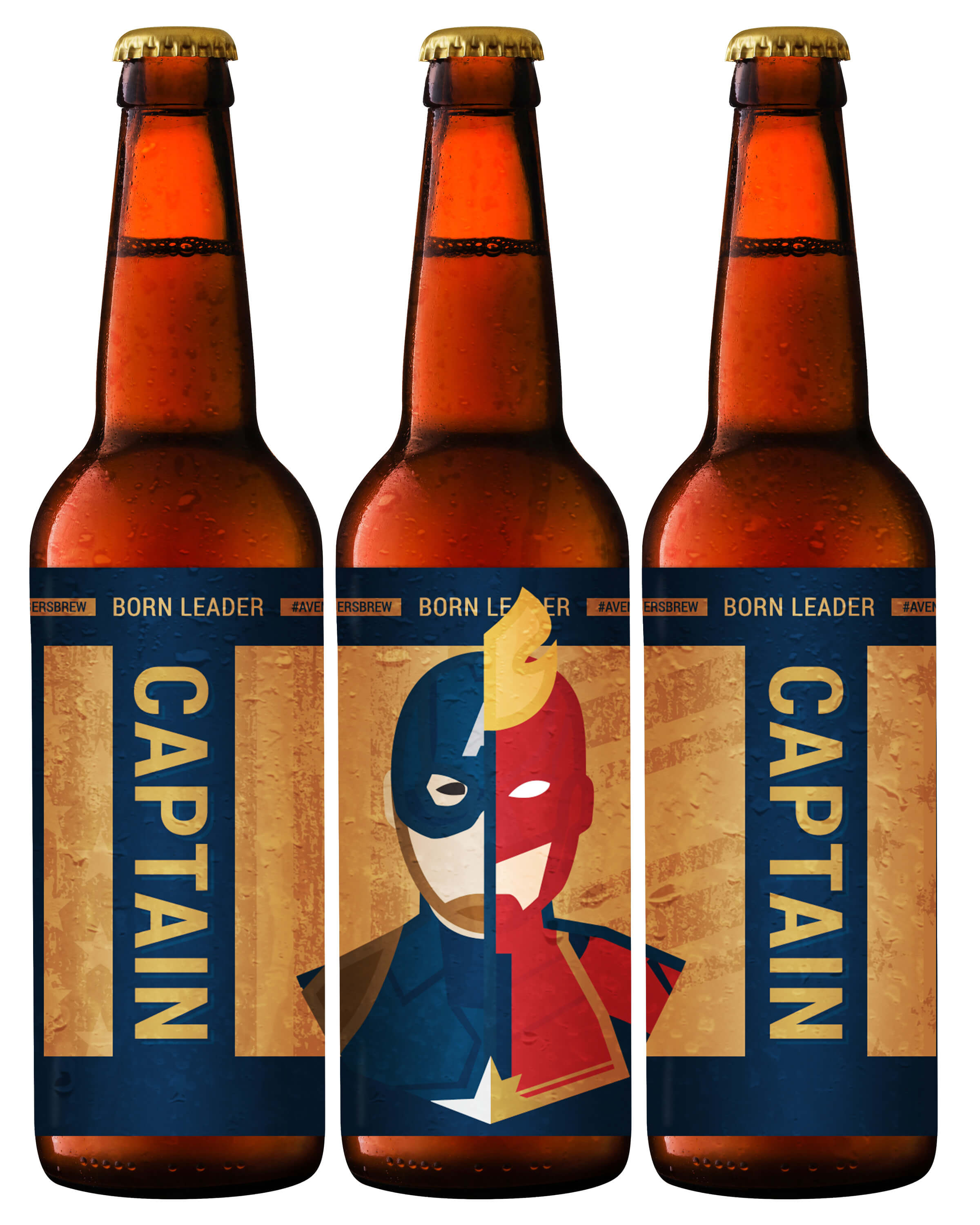 Avengers Brew: Captain Printable Beer Label
