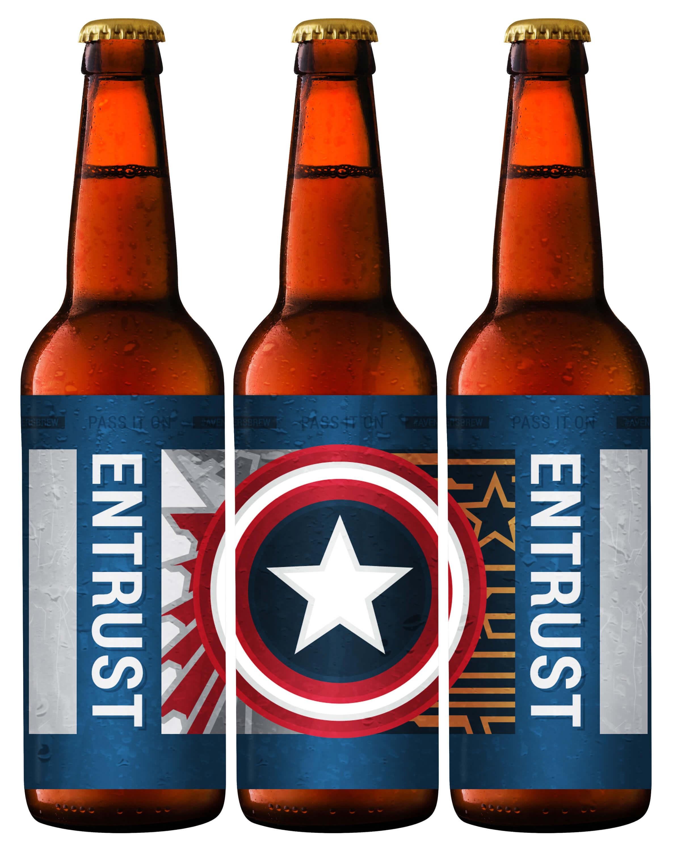 Avengers Brew: Entrust Printable Beer Label