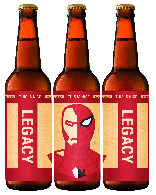 Avengers Brew: Legacy Printable Beer Label