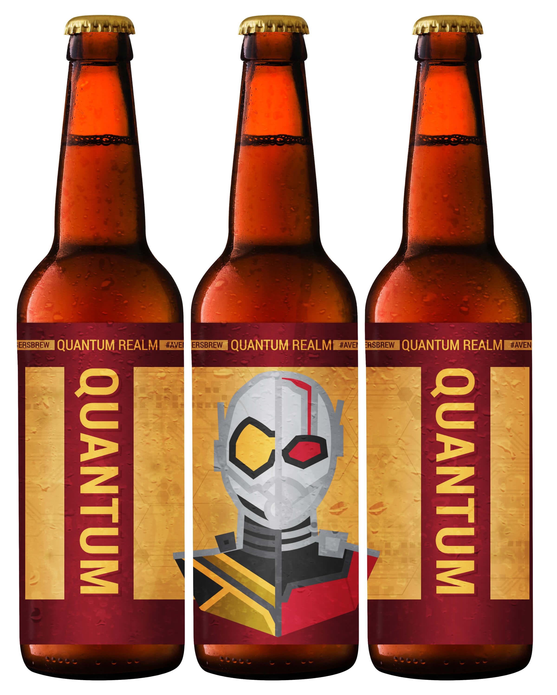 Avengers Brew: Quantum Printable Beer Label