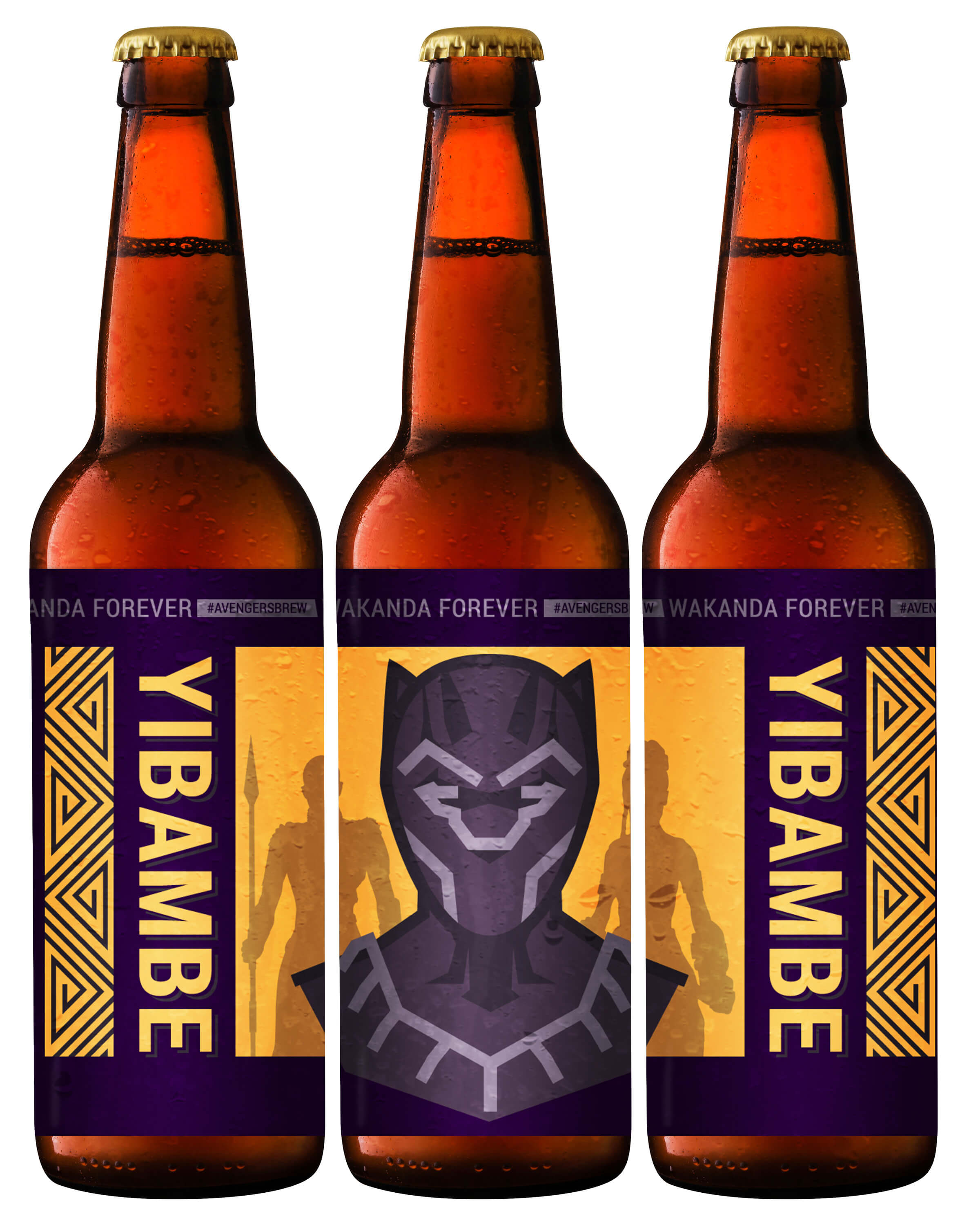 Avengers Brew: Yibambe Printable Beer Label