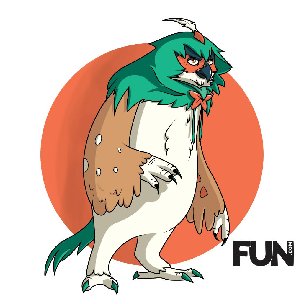 Decidueye Owlbear Mashup