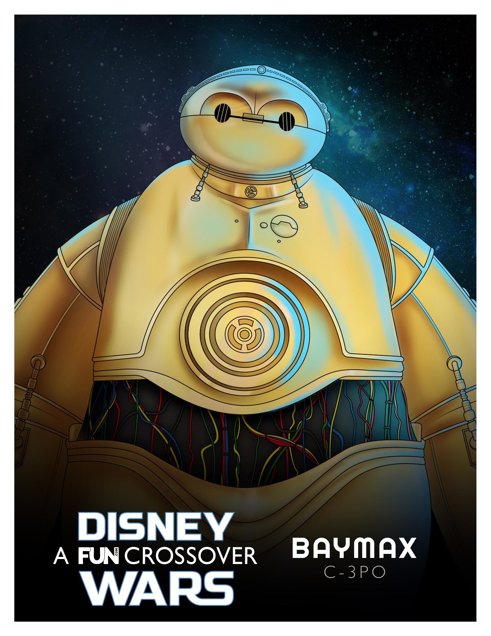 Disney Wars Baymax C-3PO