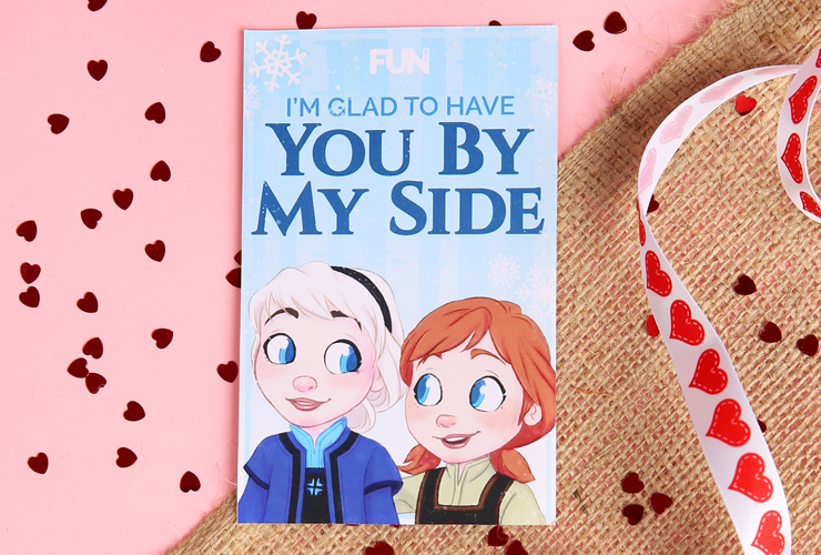 Elsa and Anna Valentine's Day Card