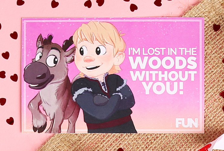 Sven and Kristoff Valentine's Day Card