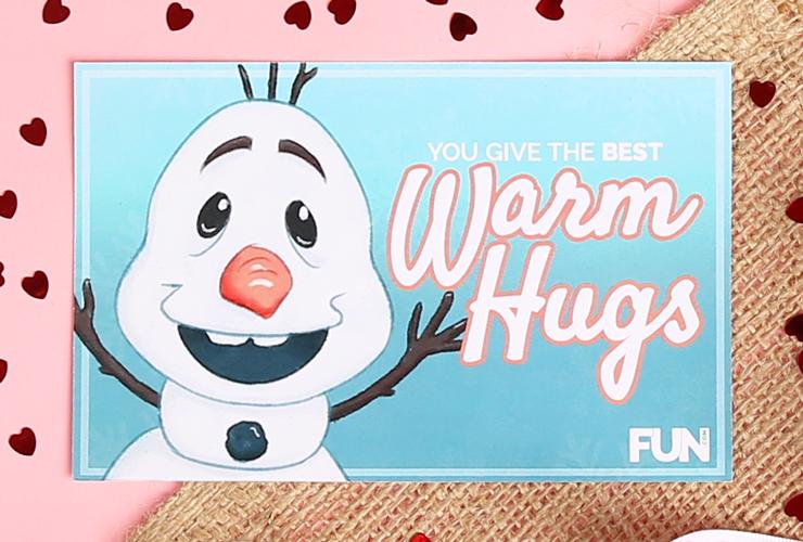 Olaf Valentine's Day Card
