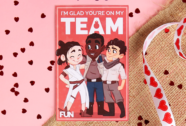 Star Wars Characters Valentine's Day Card
