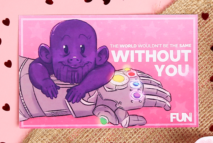 Thanos Valentine's Day Card