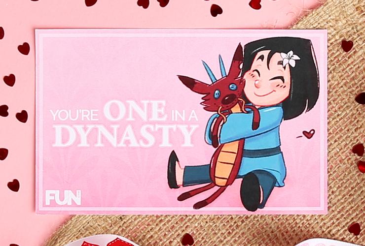Mulan Valentine's Day Card