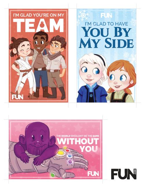 Disney Valentines Printable Page One