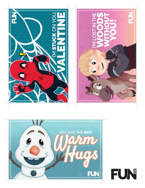 Disney Valentines Printable Page Three