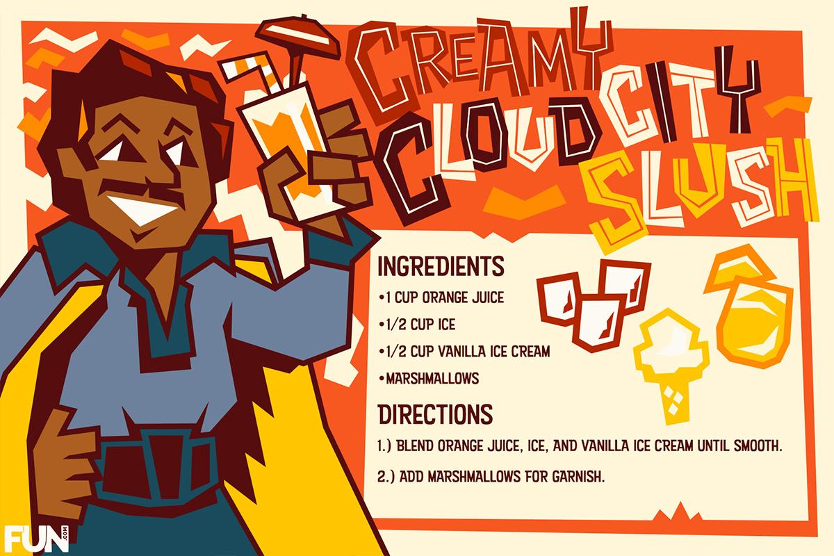 Creamy Cloud City Slush Frozen Drink Recipe Card
