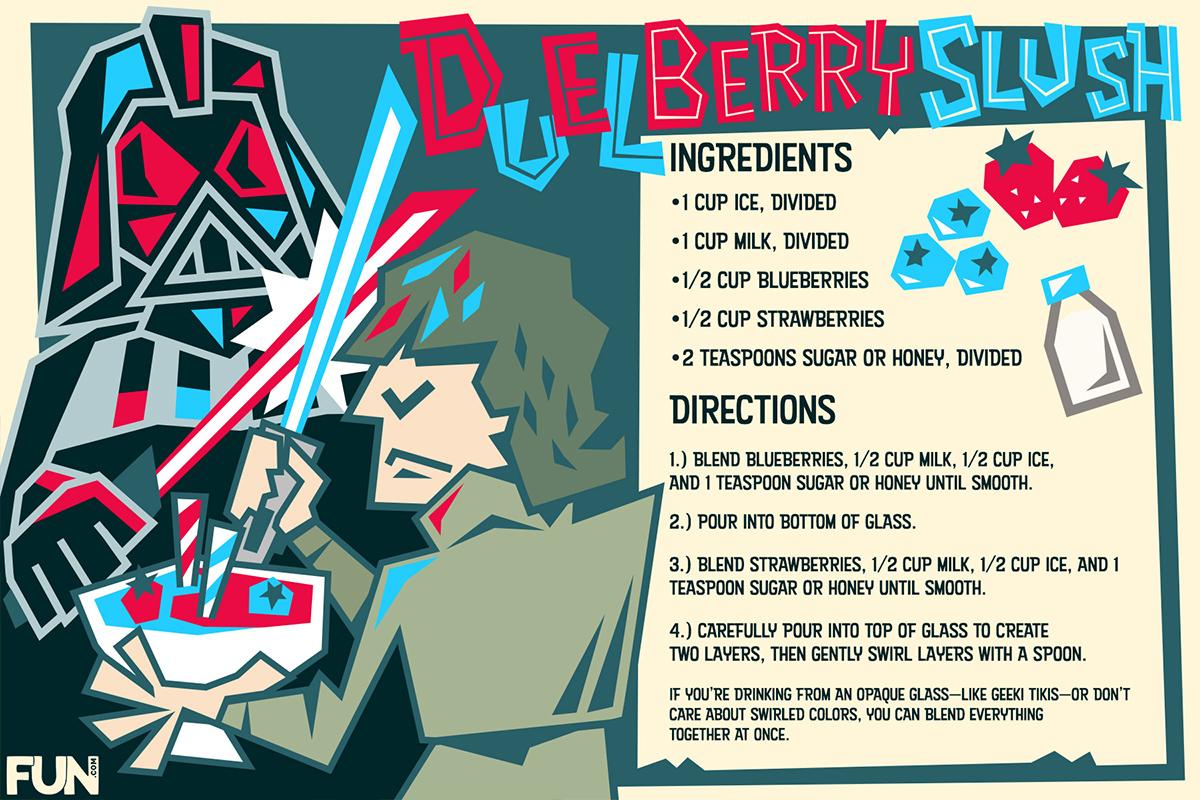 Duel Berry Slush Frozen Drink Recipe Card