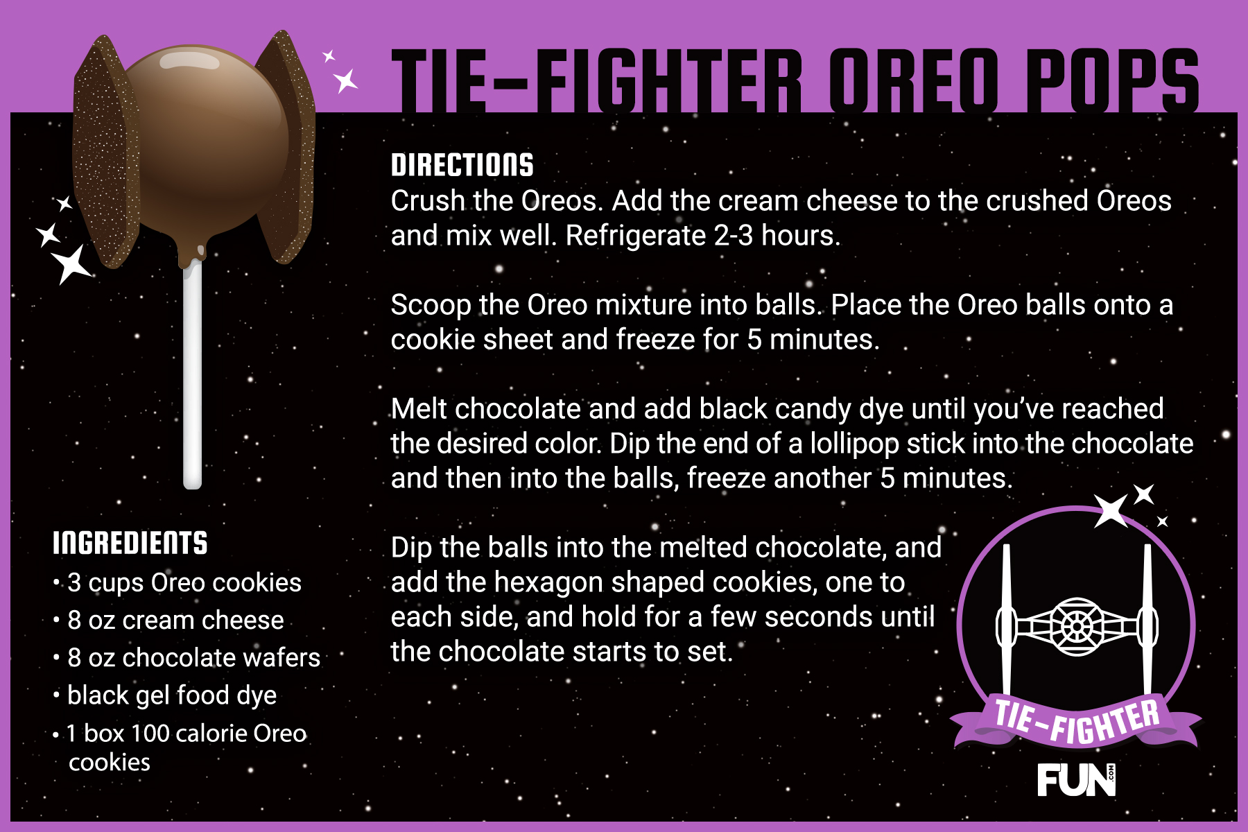 Tie Fighter Oreo Pops Recipe