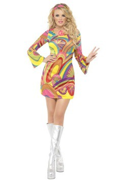 60s Sexy Flower Power Costume For Women