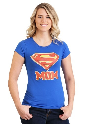 Womens Superman Super Mom T-Shirt Main Update