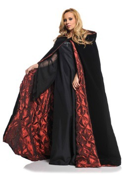 Women's Deluxe Velvet Cape w/ Quilted Red Lining Costume