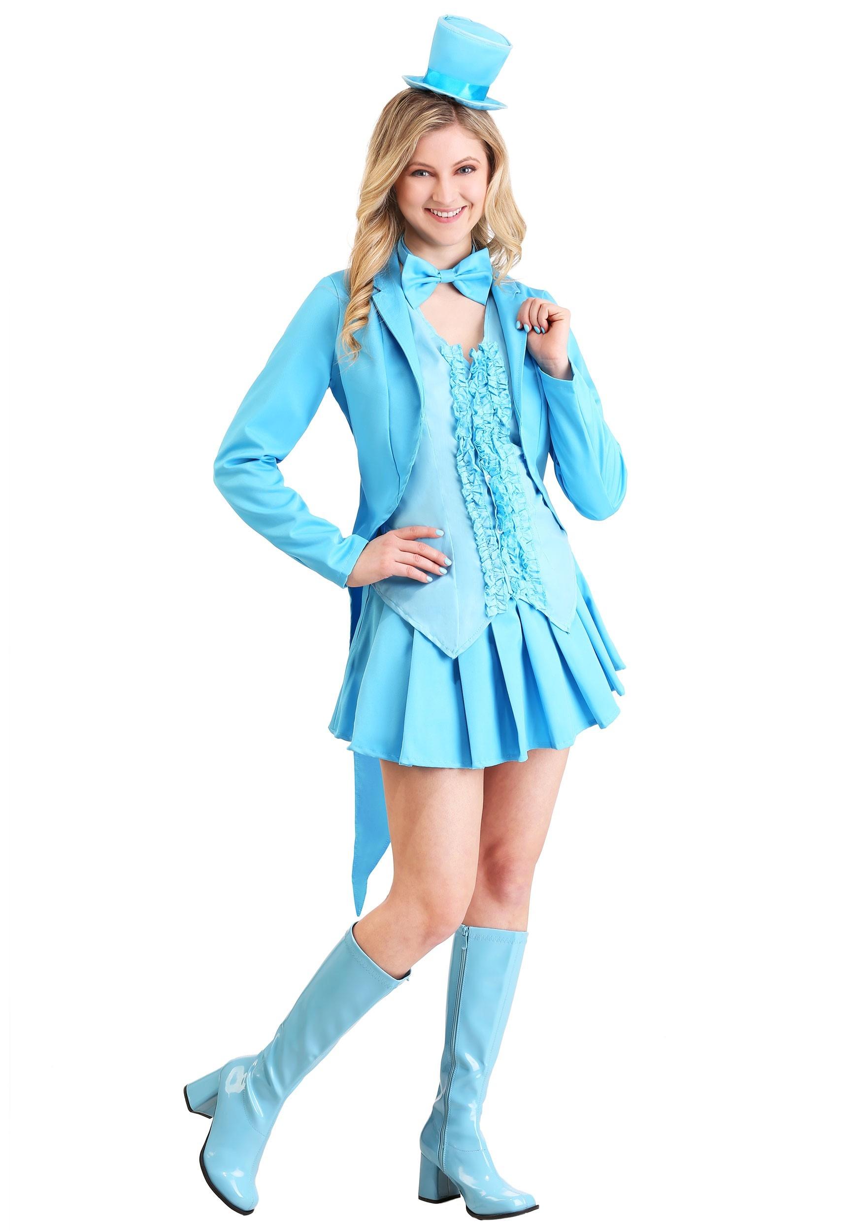 Sexy Blue Tuxedo Costume for Women