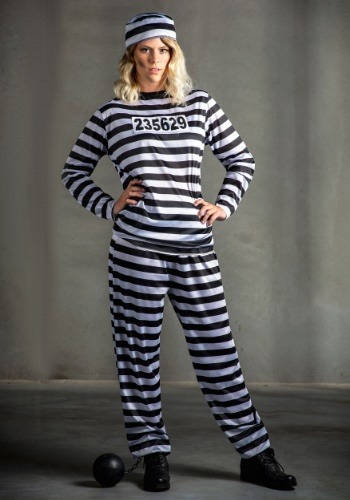 Womens Prisoner Plus Size Costume-update2