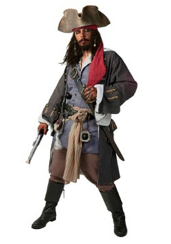 Men's Plus Size Realistic Caribbean Pirate Costume