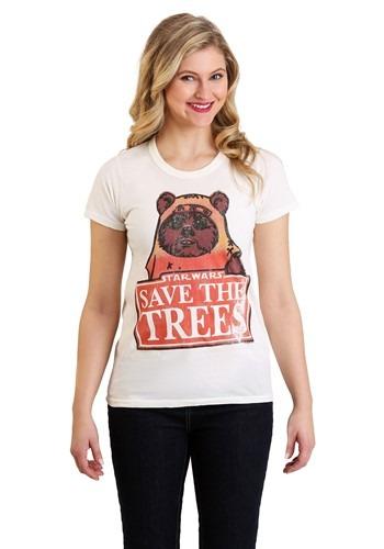 Womens Star Wars Ewok T-Shirt Main Update