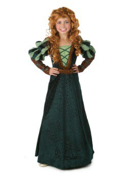 Courageous Forest Princess Girl's Costume