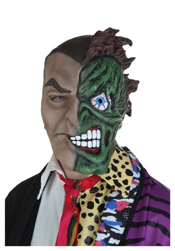 Adult Two-Faced Villain Mask