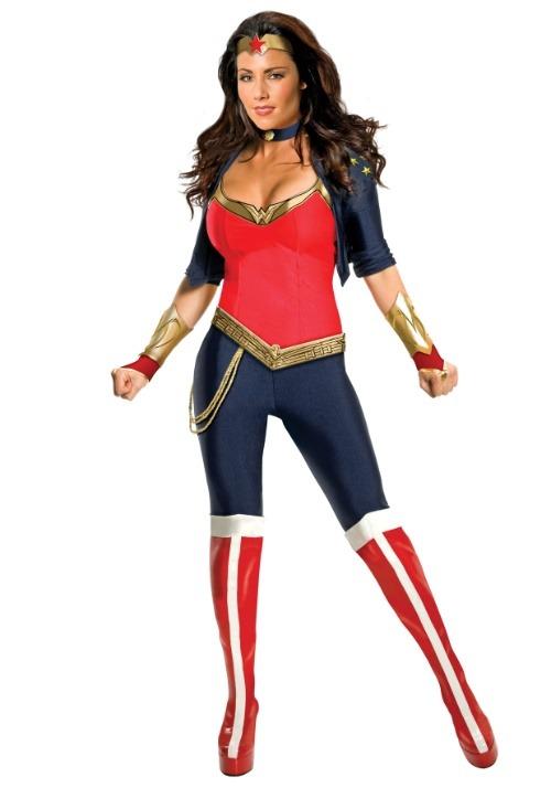 Womens Modern Wonder Woman Costume