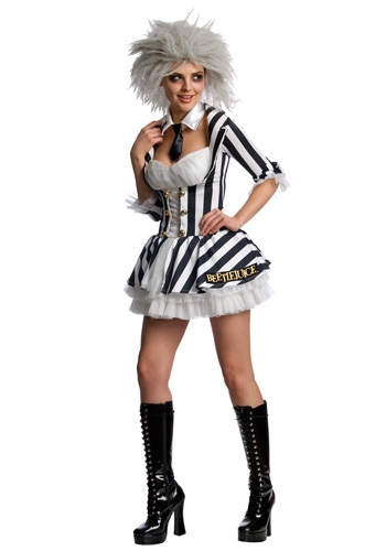 Women's Sexy Beetlejuice Costume
