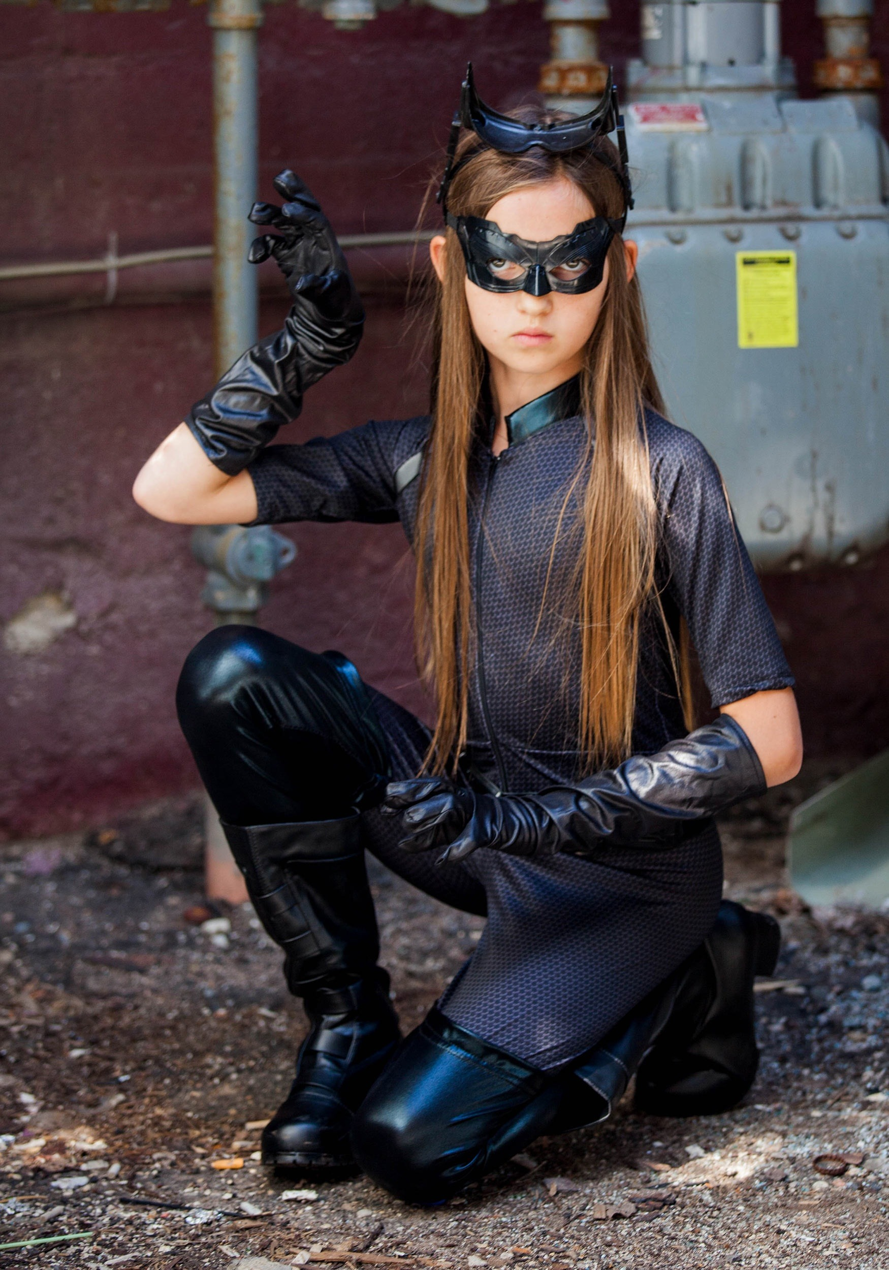 Deluxe Catwoman Costume for Girls
