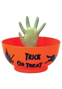 Animated Monster Hand Treat Bowl