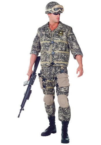 Deluxe U.S. Army Ranger Costume For Adults