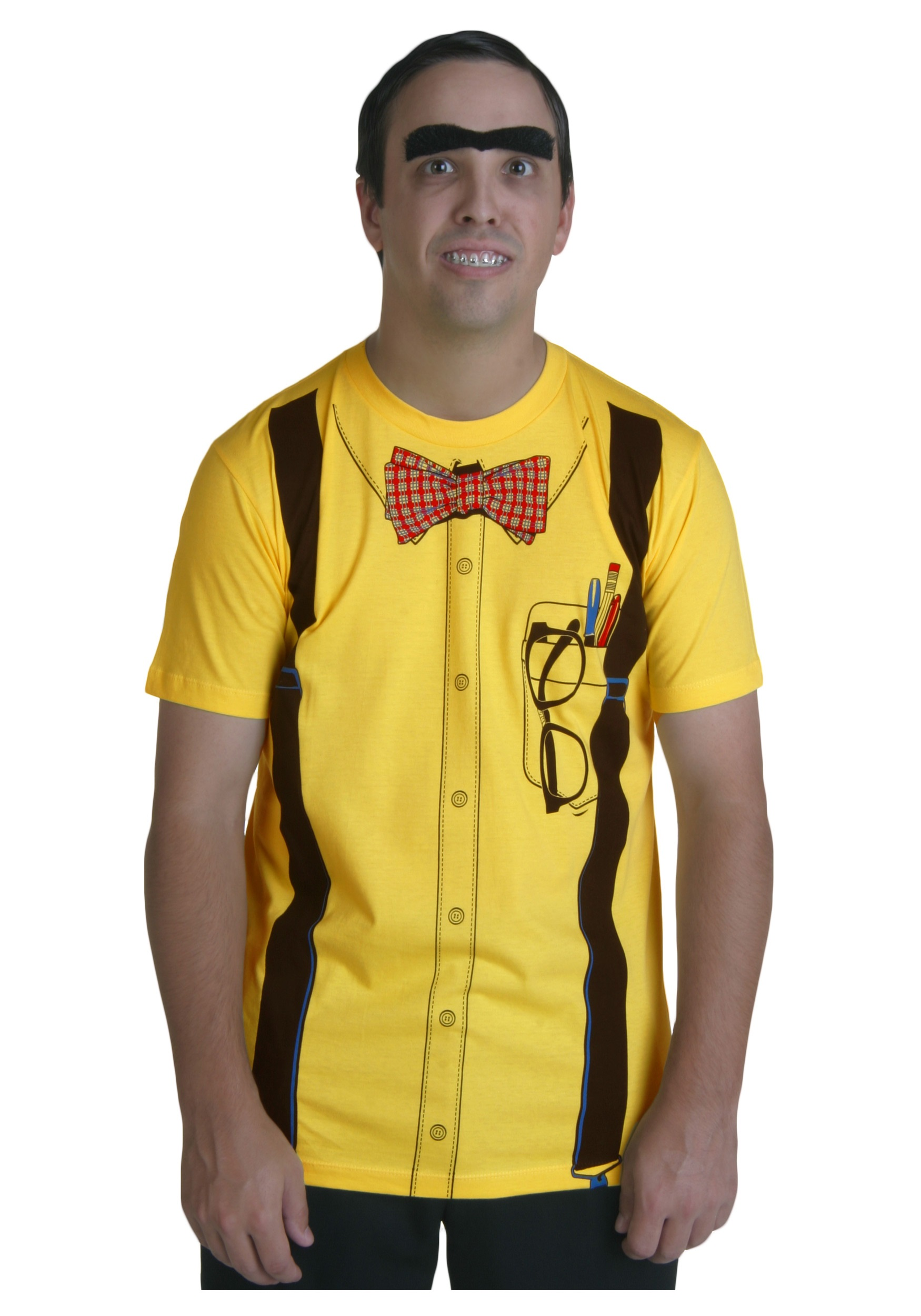Men S Yellow Nerd Costume T Shirt